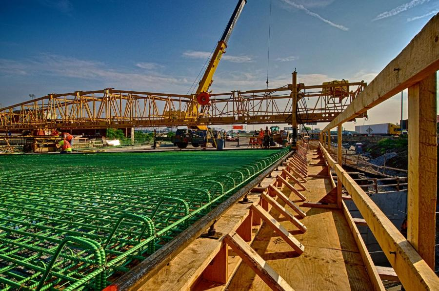 Southbound I-65 rebar for bridge deck ready for concrete to be poured. #1