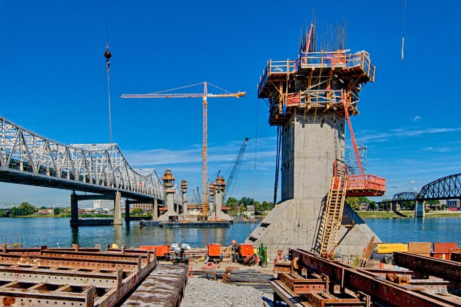 Progress on the Bridge Towers is Going Strong