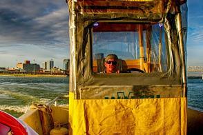 Alan Vanwinkle is one of the crew boat operators on the Ohio River Bridges Project in Louisville Kentucky.