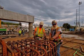Slade and Jimbo at work