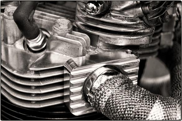 Vintage Motorcycle Engine Detail