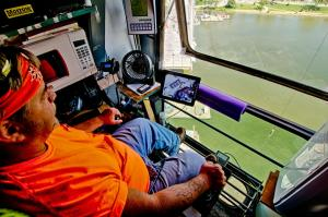 "Inside the tower crane cab with Marcus ""BigIron"" Jones."