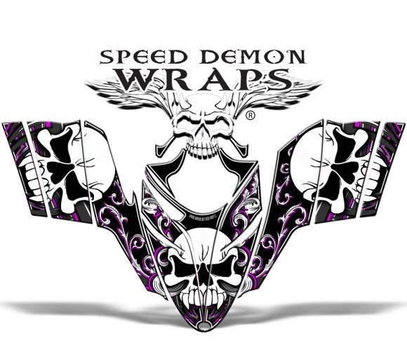 RMK Dragon Wrap Kit Skullen Snowmobile Graphics Pink