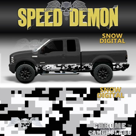Snow Digital Camo Rocker Panel Wraps