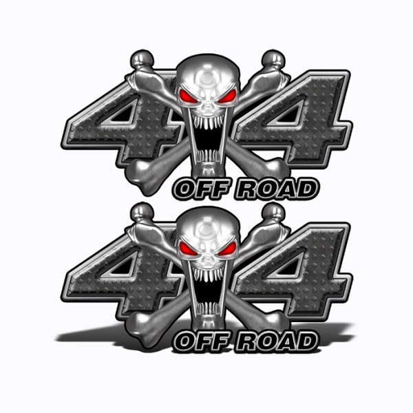 Mk400OR4 4x4 Off Road Stainless Steal skull Head BLACK web
