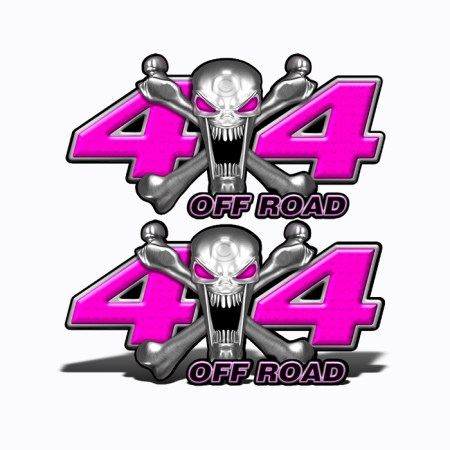 Mk402OR4-4x4-Off-Road-Stainless-Steal-skull-Head-pink