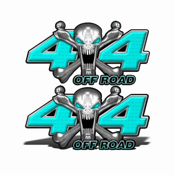 Mk403OR4-4x4-Off-Road-Stainless-Steal-skull-Head-Baby-Blue