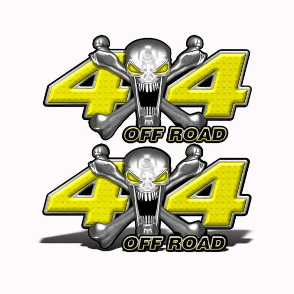 Mk407OR4-4x4-Off-Road-Stainless-Steal-skull-Head-Yellow