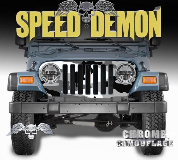 1997-2006 Jeep Grill Wraps Snow Urban Camouflage Camo