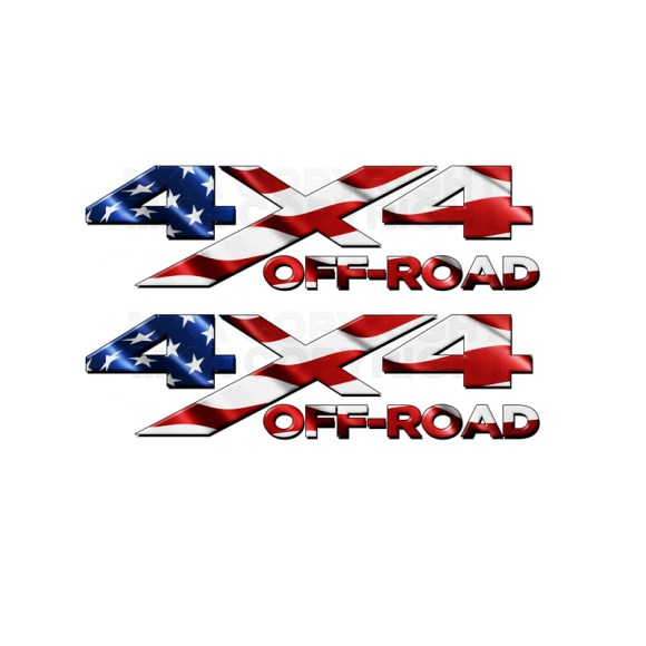 4x4 Off Road American-Flag Decal