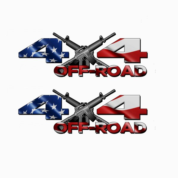 4x4 Off road American Flag Decals
