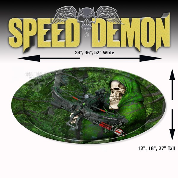 5th Wheel Trailer Graphics Bow-Reaper Forest Camouflage Oval
