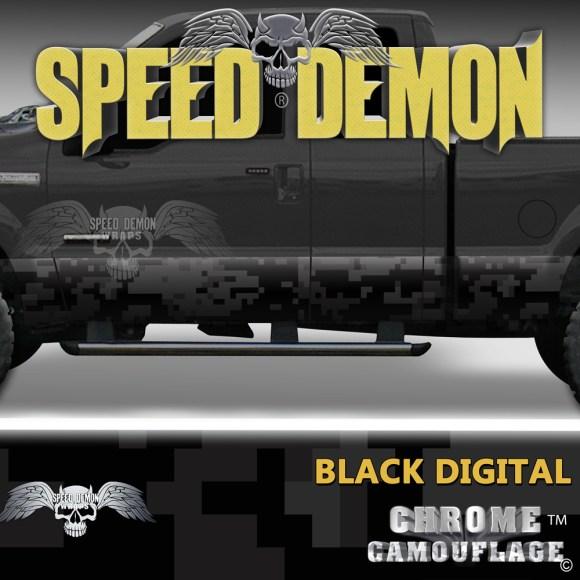 Black Digital Camo Camouflage Rocker Panel Wraps