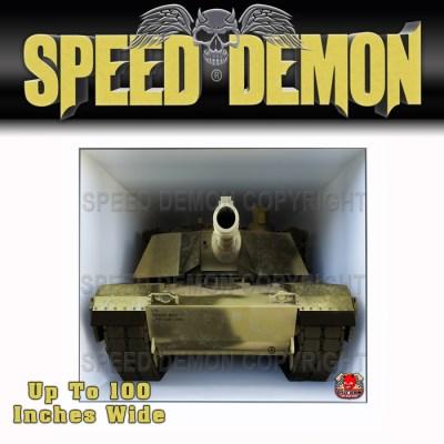 Toy Hauler Tailgate Graphics Wrap Army M1 Abrams Desert 2