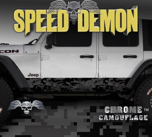 JK Jeep Rocker Camo-Wrap Light Black Camouflage
