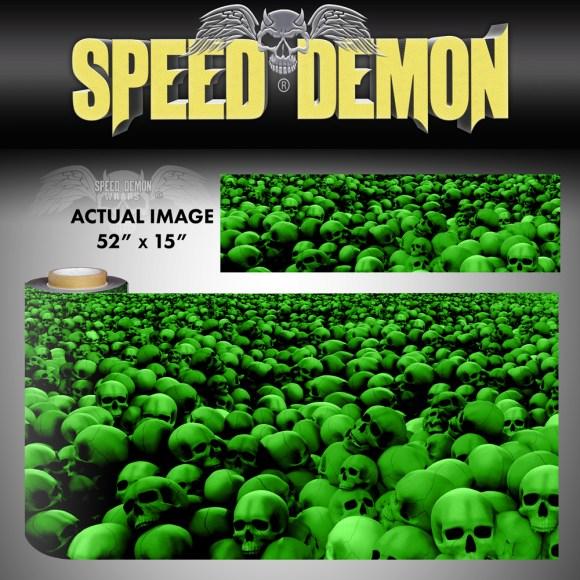 Skulls Vinyl Wrap Sheet Green