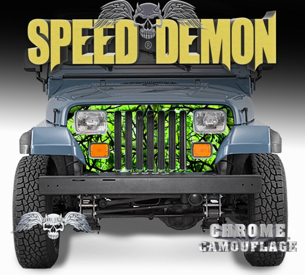 Jeep Grill Wraps Zombie Bile Camouflage Wrangler 1987-1995