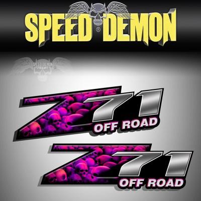 Z71 Decals Pink Skull Crusher