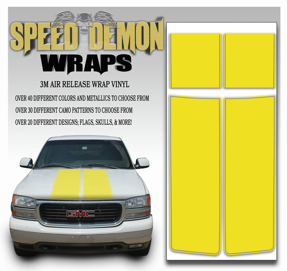 GMC Sierra Stripe Kit Yellow 2000-2006