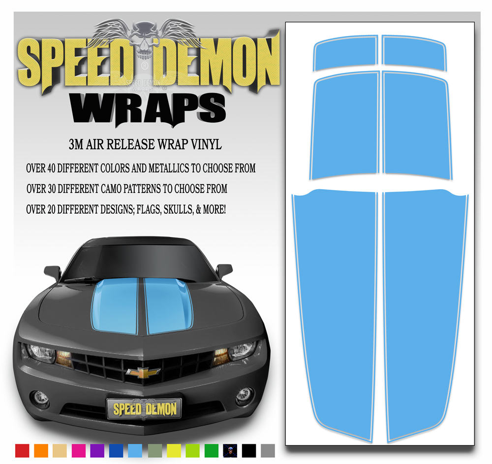 Camaro Stripes Light Blue Stripe 2010-2011-2012-2013-2014-2015