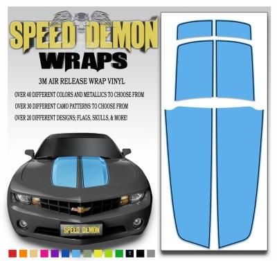 Camaro Stripes Light Blue With Black Pin Stripe 2010-2011-2012-2013-2014-2015