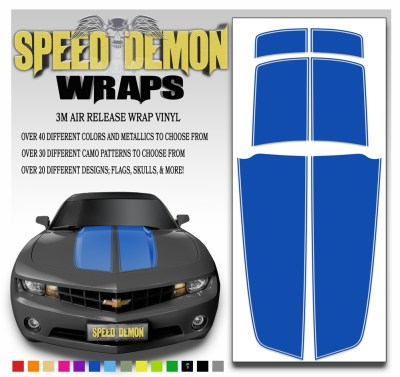 Blue Camaro Stripes 2010-2011-2012-2013-2014-2015