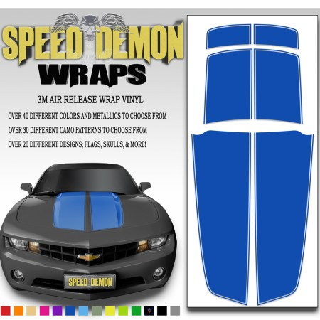 Blue Camaro Stripes 2010-2011-2012-2013-2014-2015