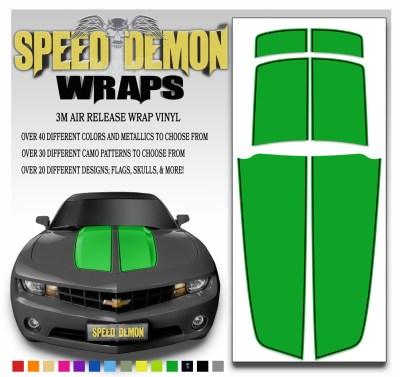 Camaro Stripes Green Stripe With Black Pin Stripe 2010-2011-2012-2013-2014-2015