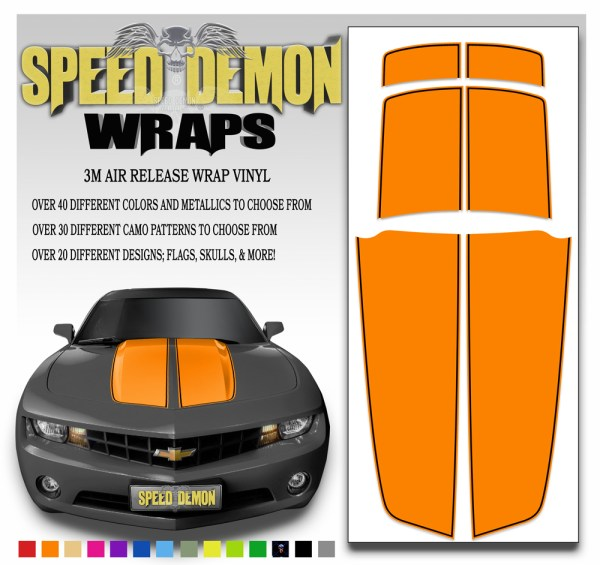Camaro Stripes Orange With Black Pin Stripe 2010-2011-2012-2013-2014-2015