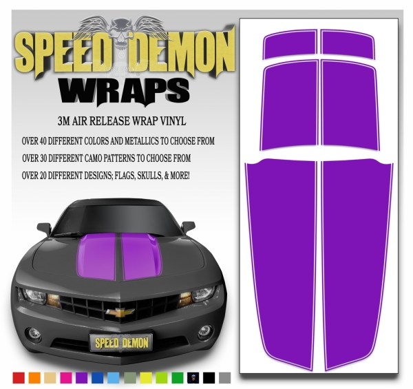 Camaro Stripes Purple 2010-2011-2012-2013-2014-2015