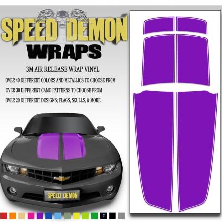 Camaro Stripes Purple 2010-2011-2012-2013-2014-2015