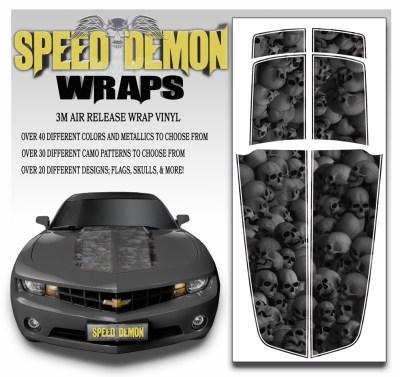 Camaro Stripes Medium Ghosted Skulls