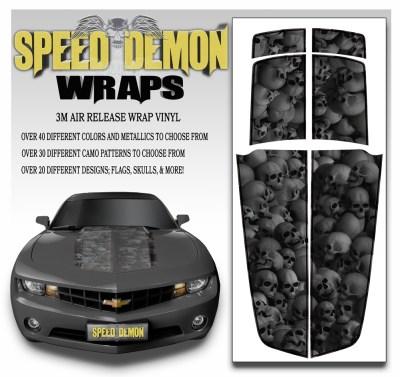 Camaro Stripes Medium Ghosted Skulls 2010-2011-2012-2013-2014-2015