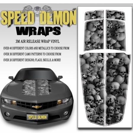Camaro Stripes Skulls 2010-2011-2012-2013-2014-2015