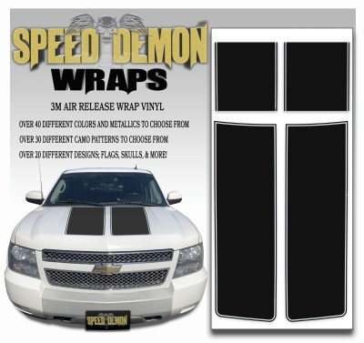 Chevrolet Avalanche Stripes Black 2007-2013
