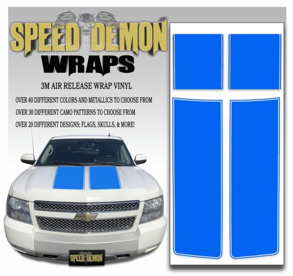 Chevrolet Avalanche Stripes Blue 2007-2013
