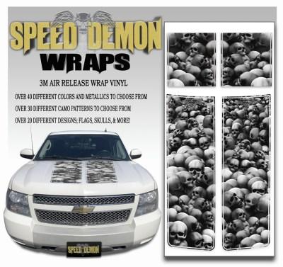 Chevrolet Avalanche Stripes Grey Skulls 2007-2013