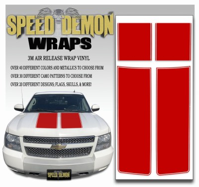 Chevrolet Avalanche Stripes Red 2007-2008-2009-2010-2011-2012-2013