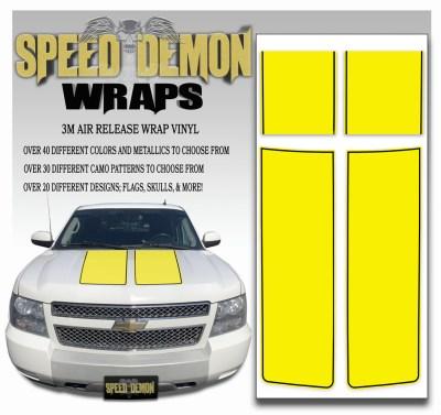Chevrolet Avalanche Stripes Yellow Black Stripe 2007-2013