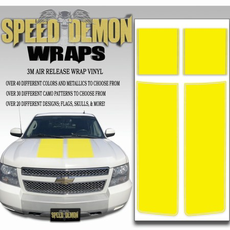 Chevrolet Avalanche Stripes Yellow 2007-2013