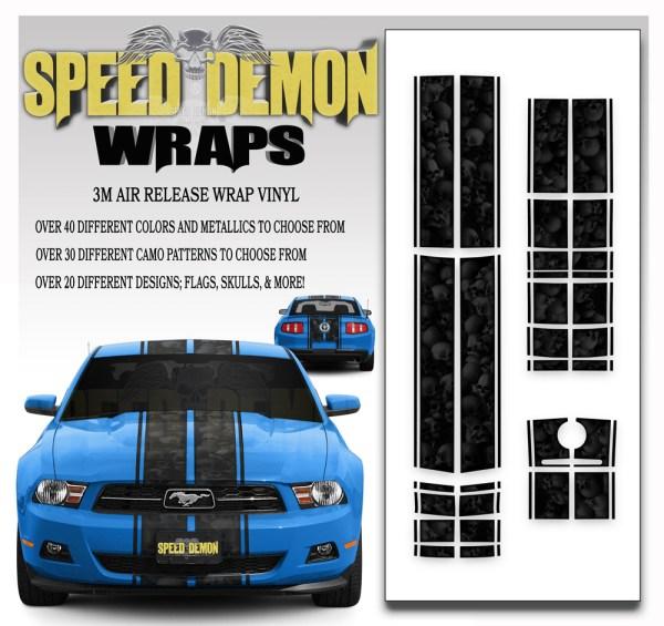 Ford Mustang Eleanor Racing Stripe Kit Skulls Ghosted Black 2010-2012