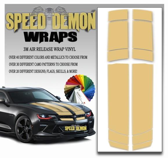 V6 Camaro Stripes Beige 2016-2017