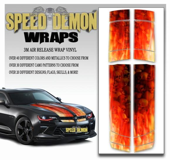 Camaro Stripes Flames Skulls Inferno 2016-2017-2018