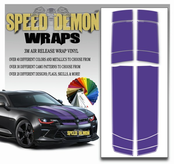 Camaro Stripes Purple 2016-2017-2018
