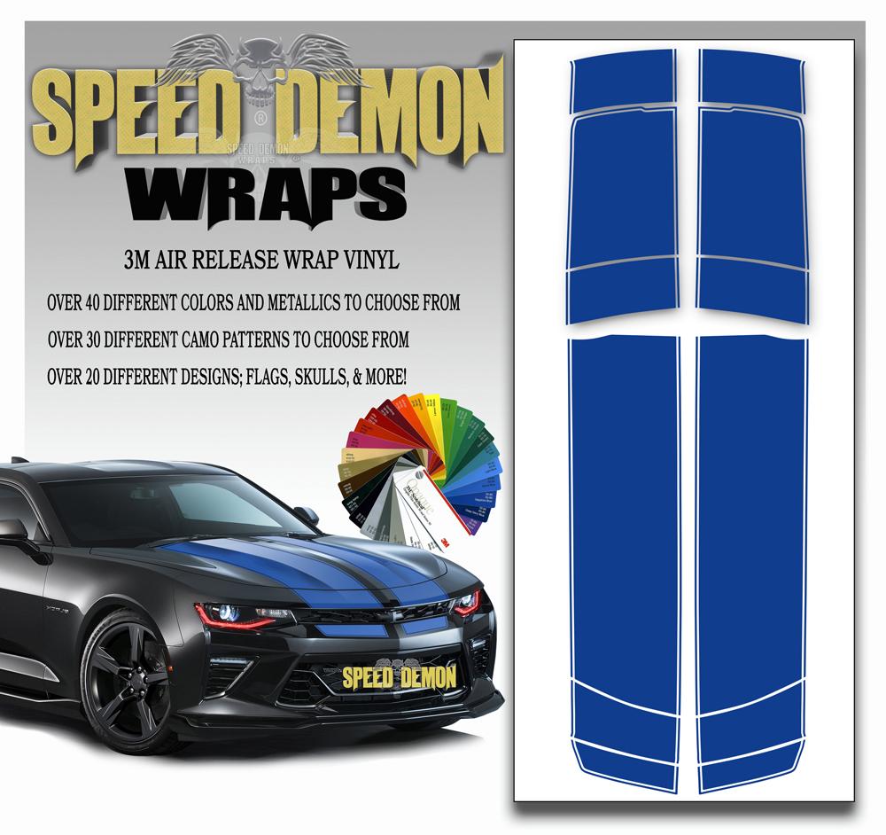 V6 Camaro Stripes Sapphire Blue 2016-2017-2018