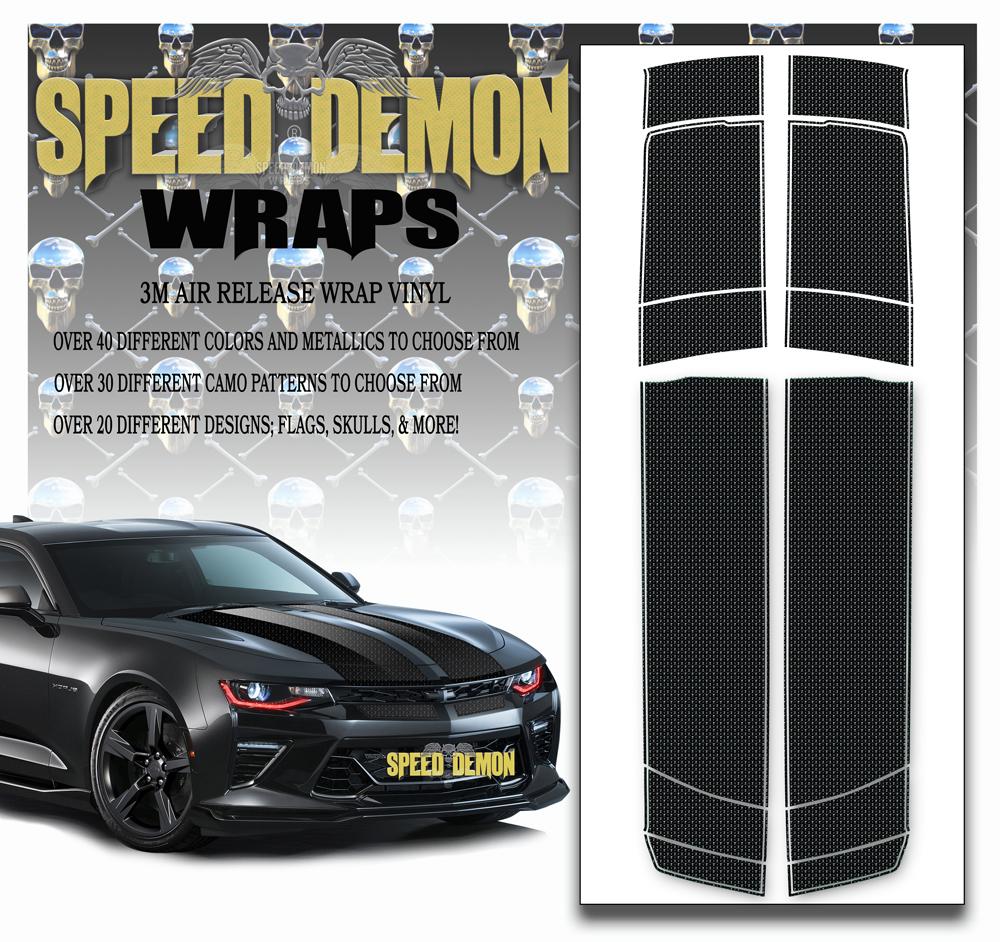 Camaro Stripes Skulls Chrome 2016-2017-2018