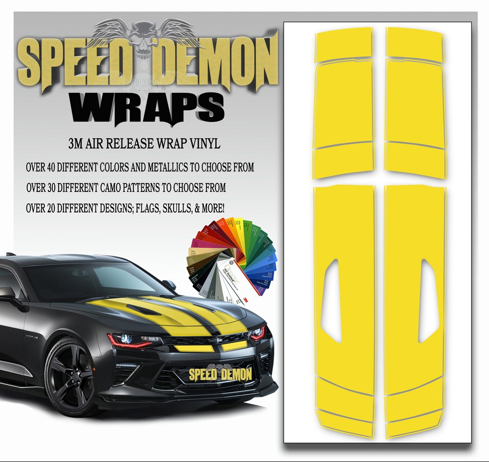 V8 Camaro Stripes Yellow 2016-2017-2018