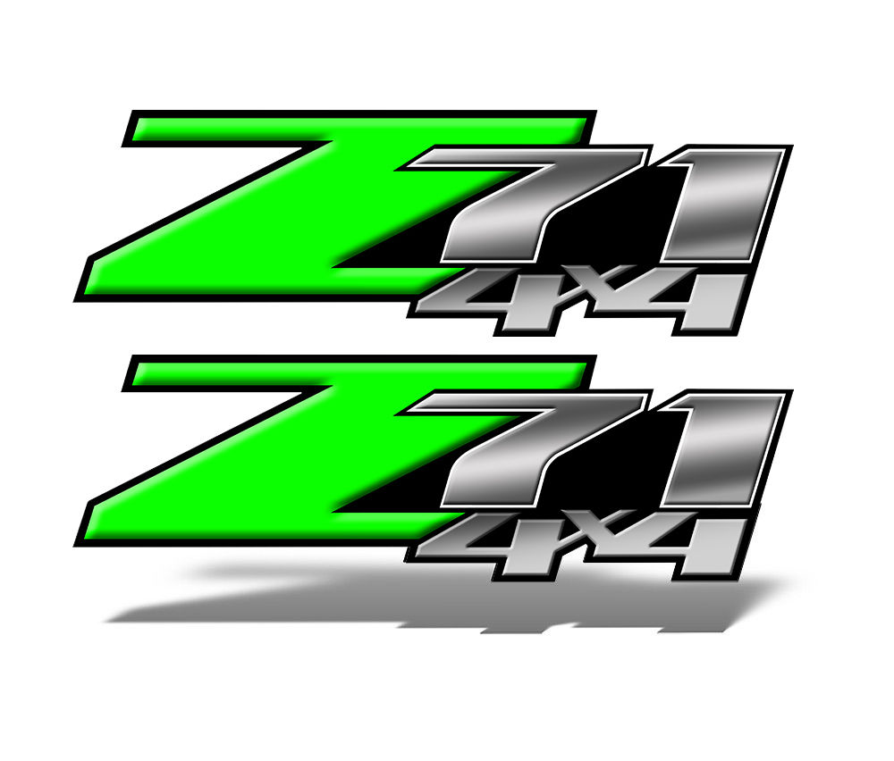 Z71 4x4 DECAL Green