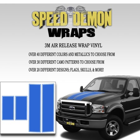 Ford F350 F250 Stripes Blue