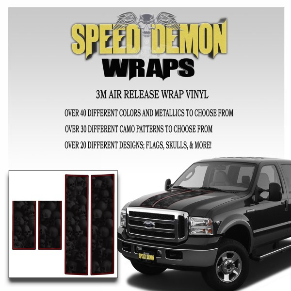 Ford F350-F250 Stripes Skulls Ghosted 1999-2006